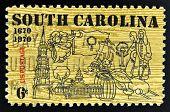 UNITED STATES OF AMERICA - CIRCA 1970: stamp printed in USA shows Symbols of South Carolina