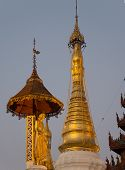 The Swedagon Pagoda At Dusk