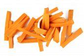 Carrots Sticks On White Background