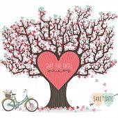 Wedding Invitation Love Tree