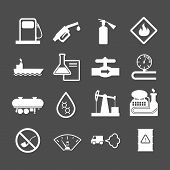 Oil Industry And Petroleum Icons Set