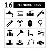 Set Icons Of Plumbing Items