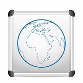 Whiteboard World Globe