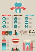 picture of molar  - Dental and teeth care infographics  - JPG