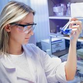 beauty scientist in chemical laboratory