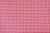 Macro shot of a Red and white checkered tablecloth