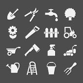 Set Icons Of Garden And Farm Items