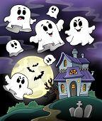 Haunted house theme image 5 - eps10 vector illustration.