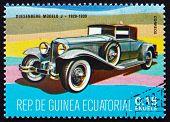 Postage Stamp Equatorial Guinea 1972 Duesenberg Modelo J, 1929 - 1930