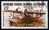 Postage Stamp Comoros 1985 F-aoul Seaplane