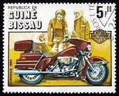 Postage Stamp Guinea-bissau 1985 Harley-davidson, Motorcycle