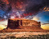 Desert Butte In Utah