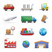 Industry & logistics Icon Set