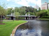 Publice Garden Bridge In Boston Massachusetts