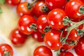 Heap Of Fresh Cherry Tomatoes