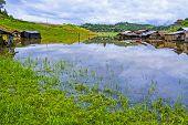 Homes On Lake After Rains