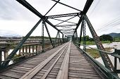 image of trestle bridge  - The old iron bridge at Pai - JPG