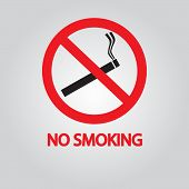 No Smoking Sign. Vector Eps 10
