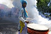 Traditional Indian drummer