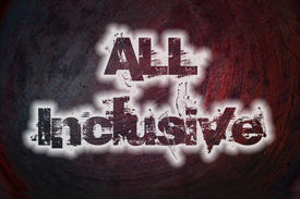 picture of all-inclusive  - All Inclusive Concept text on background sign idea - JPG