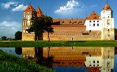 Castle in town Mir of Belarus