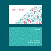 Vector abstract colorful drops horizontal corner frame pattern business cards set