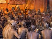 Hindu Ceremony At Kumbh Mela Festival In Allahabad, India