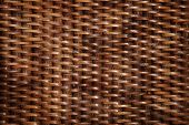 close up of the bamboo woven