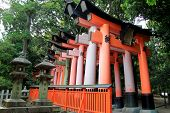 picture of inari  - Fushimi Inari Shrine is an important Shinto shrine in Southern Kyoto Japan - JPG