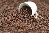 Coffee themed background composition