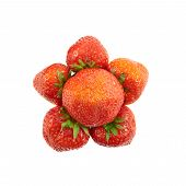 Strawberry flower shaped composition