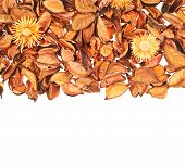 Dried medley potpourri leaves