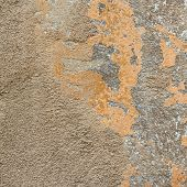 Old painted concrete wall fragment