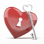 Silver key to the heart