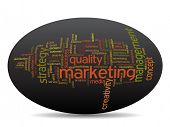 Conceptual business or marketing word cloud isolated