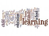 High resolution concept or conceptual education abstract word cloud on background