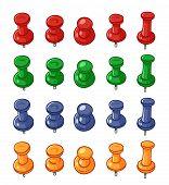 Set of push pins