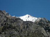 Alpine Thaw. White Peak On Spring