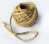 Ecru hemp rope ball