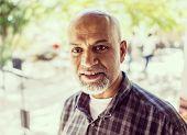 Elderly Arabic Pakistani man portrait