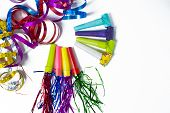 Party Items, Blowers And Colorful Streamer