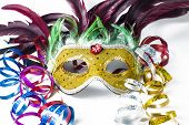 Carnival Masks And Serpentine