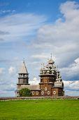 Wooden church at Kizhi under reconstruction