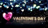 Valentine's Day Beautiful Bokeh Blue 3D