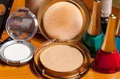 Cosmetic Powder Close Up Shot