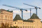 Building Cranes And Gum Store Building