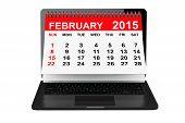 image of february  - 2015 year calendar - JPG