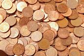 Pile Of 2 Euro Cents
