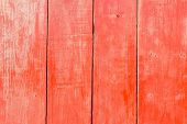 Old Painted Red Wood Wall - Texture Or Background