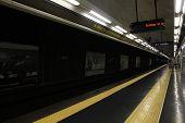 Naples Underground. Detail Of The Railway Platform.